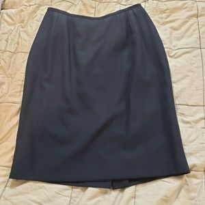 Classic Black Pencil Skirt w/ Slit